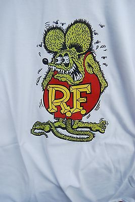 Graphic retro art vintage mens t shirt  XL cotton Rat Fink