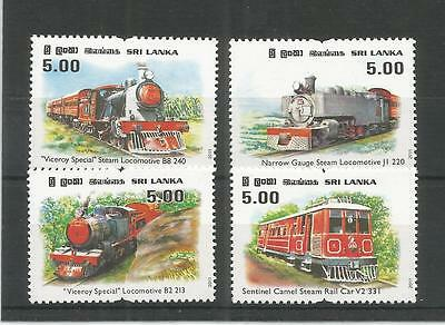 Sri Lanka 2011 Viceroy Special Steam Train Sg,2073-2076 U/mm Nh Lot 3565A