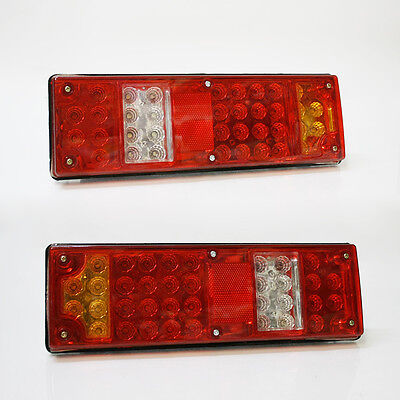 2x Led Rear Tail Lights Truck Lorry Trailer Fits Scania Volvo Daf Man Iveco 12V