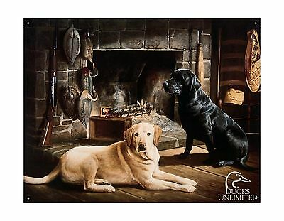 Ducks Unlimited Waiting at Crows Creek Tin Sign Free Shipping