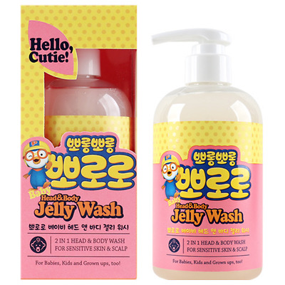 PORORO Baby Head & Body Jelly Wash, Face&Body Creamy Lotion 350ml Korea Cosmetic