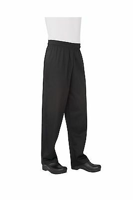 Chef Works Men's Essential Baggy Chef Pant (NBBP) Black 2X-Large Free Shipping