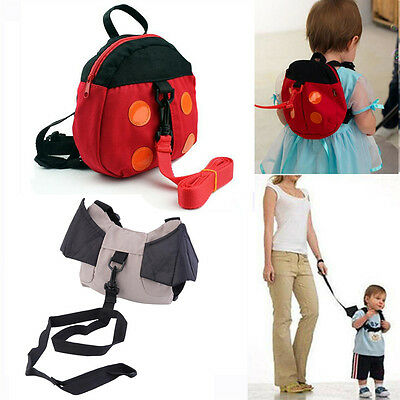 Walking Safety backpack Harness Reins Toddler Bag For Kids Children Ladybug Bat