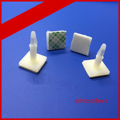 100x Stick on Plastic PCB Locking Snap-In Spacer Standoff 0.12'' Hole support