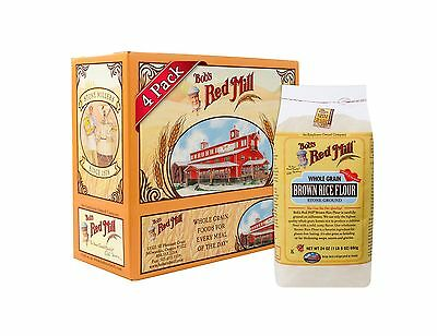 Bob's Red Mill Gluten Free Brown Rice Flour 24 Ounce (Pack of 4) Free Shipping