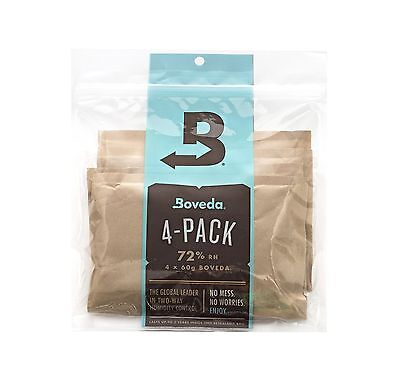 Boveda 72 Percent RH 2-Way Humidity Control Large 60 gram 4-Pack Free Shipping