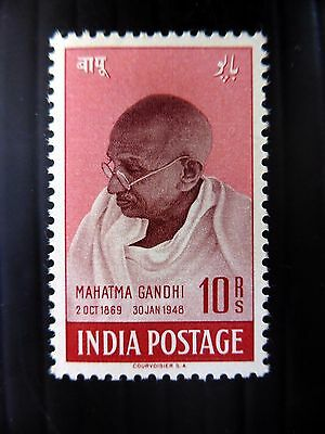 INDIA Gandhi 10R SUPERB White Gum U/M SG308 NB499