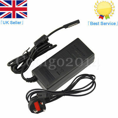 Microsoft Surface Pro 1 & 2 RT 1601 1631 1536 Windows 8/10 Power Adapter Charger