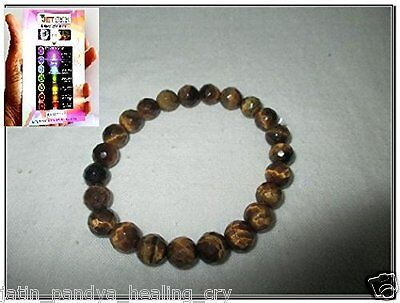 Jet New Tiger Eye Faceted Beads Stretch Bracelet A++ Natural Genuine Healing