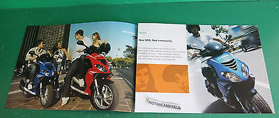 Pubblicita Depliant Brochure Catalogue Scooter Piaggio Power 50 Nrg 50 Pj 50 Dd