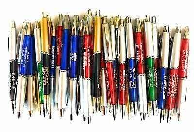 50 Wholesale Lot Misprint Ink Pens Ball Point Plastic Retractable Free Shipping