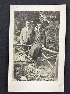 Vintage Postcard: Real Photo: Anonymous Couple: #A22: Isle Of Man