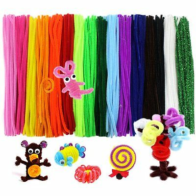 340pcs Assorted Colour Pipe Cleaners Sticks Chenille Stem DIY Craft 30cm