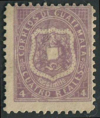 Guatemala 1873 4R with facsimile below shield