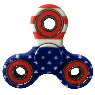 Fidget Tri-Spinner Toy Ceramic for ADHD Focus Anxiety Stress Relief [Pattern 2]