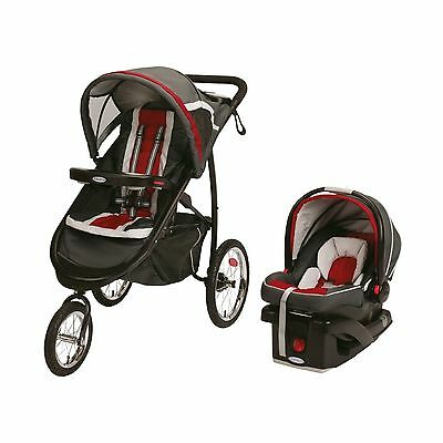 Graco Fastaction Fold Jogger Click Connect Travel System Chili ... Free Shipping