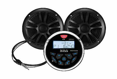 BOSS AUDIO MCKGB350B.6 Marine Package Includes MGR350B In-Dash ... Free Shipping