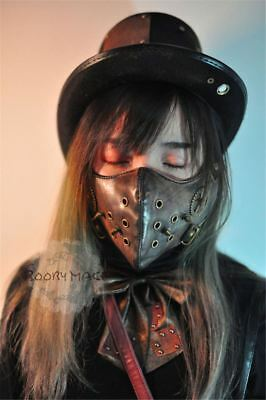 MagiDeal Punk Spike Steampunk Rivet Half Mask Masquerade Unisex Gothic Cosplay