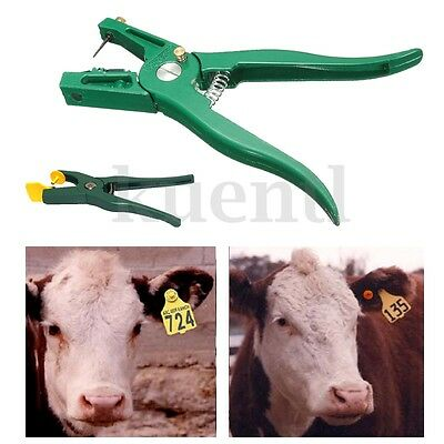 Livestock Cattle Goat Sheep Ear Tag Plier Animal Lables Marking Applicator New