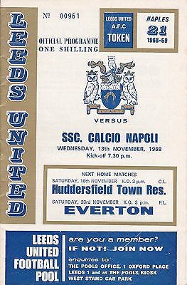 LEEDS UNITED v SSC CALICIO NAPOLI ~ FAIRS CUP CUP ~ 13 NOVEMBER  1968 ~ SUPERB