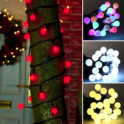 Connectable 5M Indoor Outdoor Berry Christmas Party Fairy String 50 Led Lights
