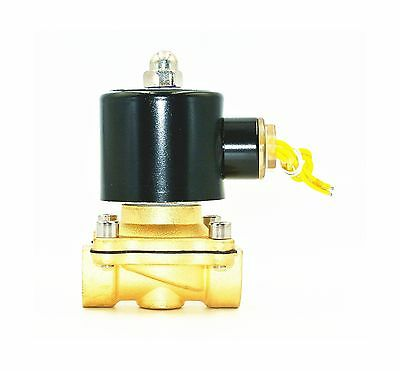 Electric Solenoid Valve 1/2 Inch 110V AC Water Air Gas Normally... Free Shipping