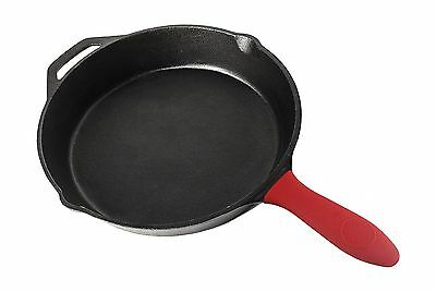 Pre Seasoned Cast Iron Skillet with Silicone Hot Handle Holder ... Free Shipping