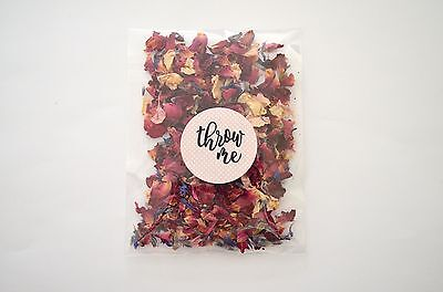 50 Slow Fall Wedding Confetti Petal Packets. Biodegradable Throwing Confetti