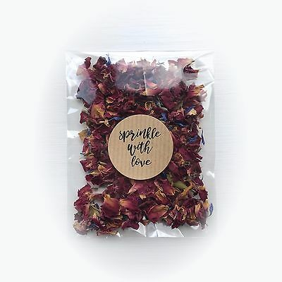 50x Wedding Confetti Petal Packets. Biodegradable, Natural Vintage Flower Petals