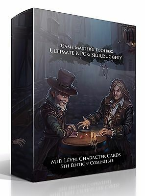 Skulduggery Character Card Deck NPCs for 5e, Pathfinder, Swords & Wizardry