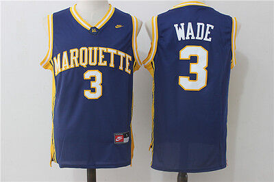 Dwyane Wade #3 NCAA Marquette Devils Retro Men Stitched Basketball Jersey Sports
