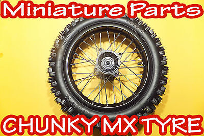 Pit Bike Rear Wheel 12Inch Pitbike Back Wheel With Tyre 15Mm Spindle M2R Wpb Lmx