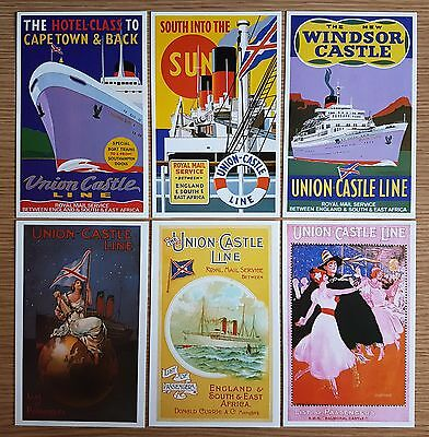 Set of 6 DALKEITH Postcards Passenger List Covers No. D187-192