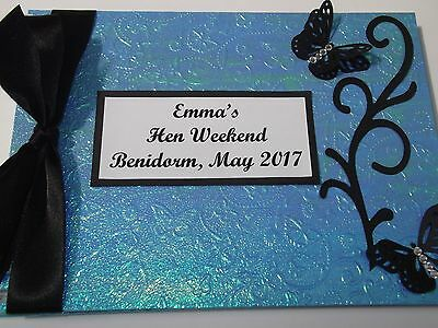 Turquoise Hen Night / Wedding / Party Guest Book A5 New In Box Handmade