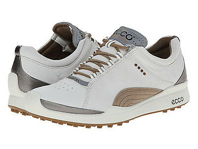 NEW Womens Ecco Biom Hybrid Golf Shoes White / Mineral - Choose Size!