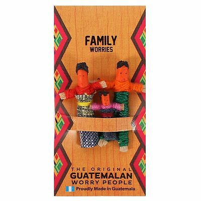 Family Worry Doll Mayan People Of Guatemala Handmade 7.5Cm Tall Wd_41716*