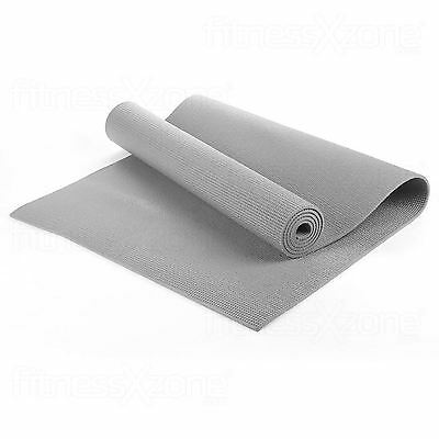 Yoga Mat EXTRA THICK 6mm 173cm x 61cm Non Slip Exercise/Gym/Camping/Picnic Grey