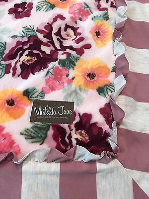 MATILDA JANE Quilt Blanket Throw Minky ONCE UPON A TIME Floral Soft 62 x 62 NEW