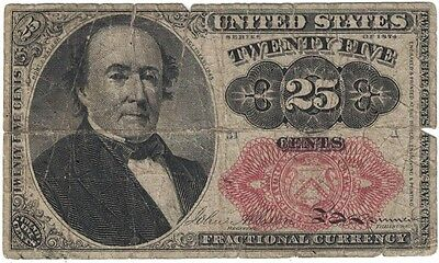 Series of 1874 United States Fractional Currency Note - 25 Cents - FREE SHIPPING