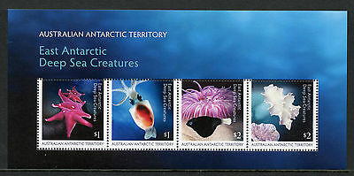 Australia AAT 2017 MNH Deep Sea Creatures 4v M/S Corals Squid Fish Marine Stamps