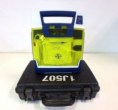 Cardiac Science Power Heart AED G3 9300E-001 w/ Case Medical EMT