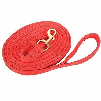 Longe Griffy, Lungeing line extra soft and grippy ca. 8 m long - red,bright red