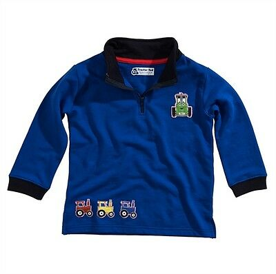 Tractor Ted Half Zip Royal Blue Sweatshirt - Available in 2-5 Years