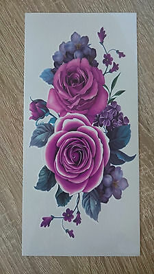 19x9cm Sheet-High-Quality-Fake-Tatto-Party-Flower-Rose-Waterproof-Temporary