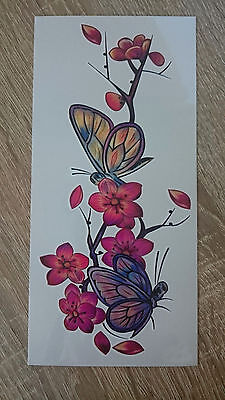 19x9cm Sheet-High-Quality-Fake-Tatto-Party-Butterfly-Flower-Waterproof-Temporary