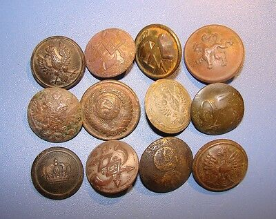 ANCIENT BUTTONS. Different epochs and nations. Copper, Brass. ORIGINAL.
