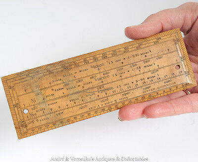 "6"" x 2"" Antique Protractor Ruler from HEFFER Bookshop CAMBRIDGE Vintage Boxwood"
