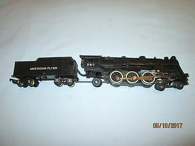 American Flyer #290 Pacific Locomotive & Tender. Runs & Smokes Well.