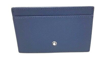 Montblanc Sartorial Dark Blue Leather Credit Card Case Wallet