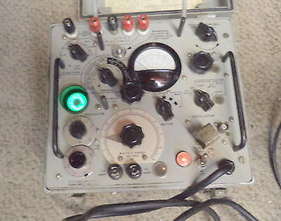 Very nice US Navy ZM-11A/U LCR meter - working - great condition
